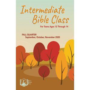 Intermediate Bible Class Fall Quarter 2020