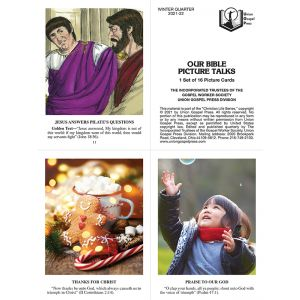 Our Bible Picture Talks Winter Quarter 2021-22